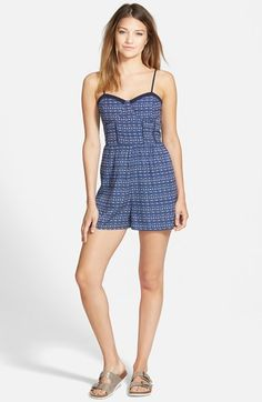 Zoe and Rose Print Corset Romper available at #Nordstrom
