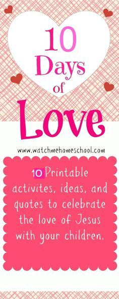 FREE 10 Days of Christ's Love {Printable Cards with Scripture} for Valentine's Day  http://watchmehomeschool.com/free-10-days-christs-love-printable-cards-scripture-valentines-day/