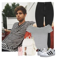"""""""Tiempos con Luke"""" by hxrrybae ❤ liked on Polyvore featuring Topshop, Lipsy, adidas Originals, Kipling, Miss Selfridge and Gucci"""