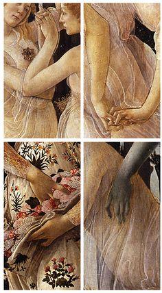 Botticelli, Hands in Primavera 1482