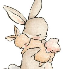 My Baby Bunny. PRINT 8X10. Nursery Art Wall Decor. $24.00, via Etsy.