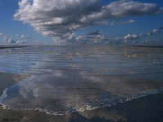 Zee-land-gezicht