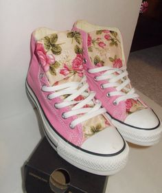 Floral Converse Shoes on Etsy, $95.00
