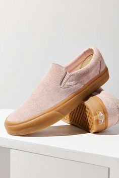 Slide View: 2: Vans Fuzzy Suede Slip-On Sneaker