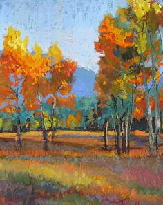 Autumnal Hymn by Tracy Haines Pastel ~ 12 x 9
