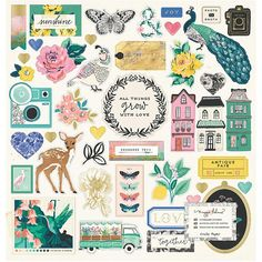 Crate Paper Maggie Holmes Flourish Collection Chipboard