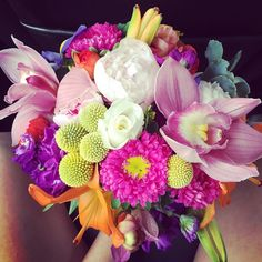 """""""My beautiful bouquet for bridal portraits today! One more month!#happilyeverwhitley"""""""