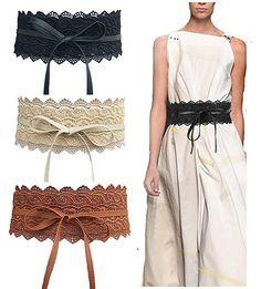 93d3f90b3b Toptim Women's Lace Belt Bow Tie Wrap Faux Leather Boho Band Corset 3-Pack  #Belts, #Accessories, #Women, #Clothing, Shoes & Jewelry,