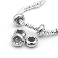 Free Shipping 10pcs/lot Stopper Clip Beads Charms with Rubber inside fit European Pandora Bracelets necklaces For Jewelry Making