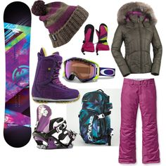 Snowboarding Gear. Love snowboarding!! ♥ I have this board