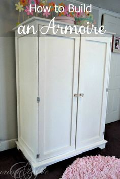 Building An Armoire. With plans, time, and the right tools, see how you can build a solid wood armoire. Building Furniture, Diy Furniture Plans, Furniture Projects, Furniture Making, Home Projects, Cool Furniture, Ana White Furniture, Furniture Dolly, Outdoor Furniture