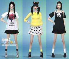 Wrinkle socks set at Marigold via Sims 4 Updates