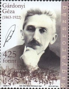 #4292 Hungary - Géza Gárdonyi, Single (MNH) Hungary Travel, Vintage Stamps, Stamp Collecting, Geography, Writer, History, Reading, World, Books