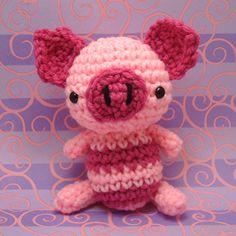Amigurumi Striped Pink Piggy   Flickr - Photo Sharing!