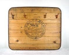 Vintage Advertising Board Upcycled Coat Rack by havenvintage, $84.00