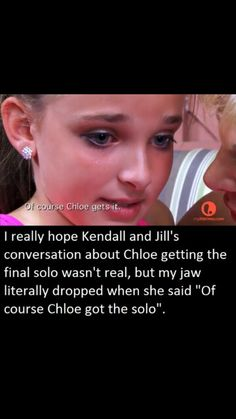 """What bothered me is when she says """"Chloe's dosent deserve it"""" Have you seem how Abby treats chloe I know she gets a lot of solos but that doesn't mean she treats her great also when she said """"I can beat and intimate justice and chloe can't"""" I was like well chloe just won so she did beat him and I love Kendall but I don't think I kendall did that she would of beat Maddie and maybe justice but idk"""