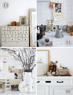 26 Ideas How To Decorate Dresser Top Shabby Chic Dresser Top, Dresser Drawers, Vintage Interiors, White Furniture, Painted Furniture, Home And Deco, Home Living Room, Decorating Your Home, Decorating Ideas