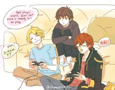 Male mc with seven and yoosung