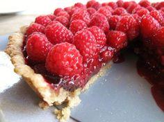 Raspberry Chocolate Tart with Coconut Crust