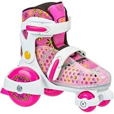 Get low with the Fun Roll. These Jr. Adjustable Roller Skates feature a low center of gravity that is safe and great for beginners! The flower accents on the boot will get your child in the mood to have fun! Roller Derby Skate Corp has been the leader in producing skate products for over 80... more details available at https://perfect-gifts.bestselleroutlets.com/gifts-for-teens/skates-skateboards-scooters/product-review-for-roller-skates-fun-roll-girls-jr-adjustable-medium/