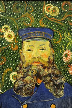 Vincent van Gogh. Portrait of Joseph Roulin. Arles, early 1889, detail. MoMA, NYC ♥♥♥