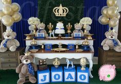 Baby Shower Niño, Baby Shower Themes, Royal Theme, Craft Party, Rave, Mickey Mouse, Children, Crafts, Lucca