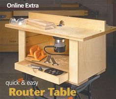 39 Free DIY Router Table Plans