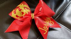 Marine Corp Cheer Bow by CutiePieClipz on Etsy