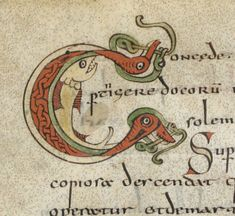 Sacramentarium gelasianum [Sacramentaire gélasien, dit de Gellone (Saint-Guilhem-le-Désert)]. Date d'édition : 780-800 Type : manuscrit Langue :	 Latin Initial Letters, Letter Art, Letter Logo, Book Of Kells, Medieval Manuscript, Medieval Art, Illuminated Letters, Illuminated Manuscript, Old Best Friends