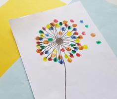 Kids Craft – Dandelion Wall Art Drawing Tips drawing for kids Finger Paint Art, Finger Painting For Kids, Finger Art, Drawing For Kids, Drawing Tips, Drawing Drawing, Drawing On Wall, School Painting, Dandelion Drawing