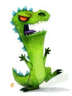 Day 578. Rugrats - Reptar by Cryptid-Creations on deviantART