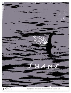 Swans poster, designed by The Heads of State