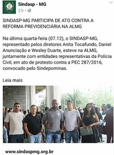 ALEXANDRE GUERREIRO: SINDASP-MG PARTICIPA DE ATO CONTRA A REFORMA PREVI...