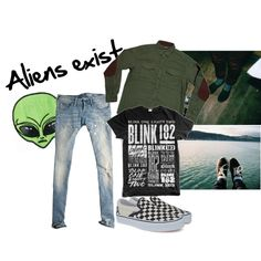 Aliens exist by ifuckinglovegerardway on Polyvore featuring mode, Jack Wills, Vans, RockSmith, Blink, women's clothing, women's fashion, women, female and woman