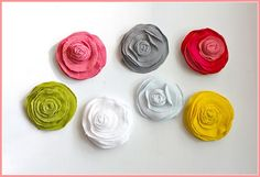 T-shirt blossoms for hair clips or pins for shirts, skirts or even slippers!