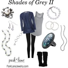 """Shades of Grey II"" by parklanejewelry on Polyvore.  Love this!"