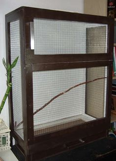 Homemade bird cage