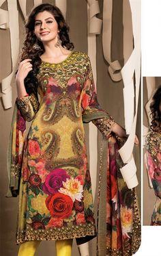 Picture of Charming Yellow Color Designer Salwar Kameez