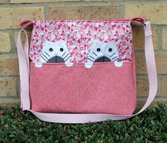 cat purse cat bag medium sized crossbody bag by Enchantingcrafts, £38.00