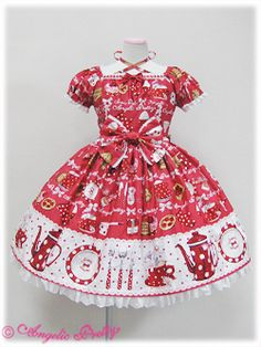 French Cafe JSK in red - Angelic Pretty