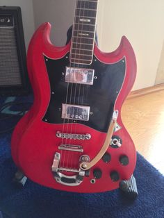 1974 Ibanez 2354, Gibson SG clone. My very first electric guitar.
