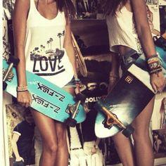 friends, longboard, style, fashion