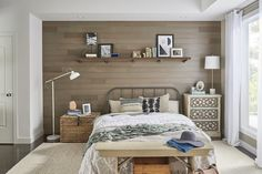 Upgrade home interior with peel and stick wood from Stikwood collection. Transform your wall with authentic reclaimed wood. Check it out today. Peel And Stick Shiplap, Peel And Stick Wood, Wood Wall Design, Wood Wall Decor, Stick On Wood Wall, Accent Wall Bedroom, Master Bedroom, Wood Panel Walls, Wood Paneling
