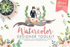 50%off-Watercolor Designer Toolkit - Illustrations