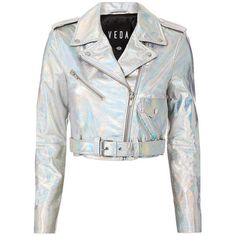 Designer Clothes, Shoes & Bags for Women Girls Fashion Clothes, Teen Fashion Outfits, Kpop Fashion, Holographic Jacket, Holographic Fashion, Cute Jackets, Jackets For Women, Stage Outfits, Cool Outfits