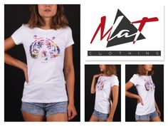 """New """"White T-shirt Tiger"""" MATclothing (Made in Italy) BUY IT HERE : www.matclothing.com"""