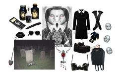 """Let's play a game called ""Is there a god?"" - Wednesday Addams"" by bloodmoonsuccubus ❤ liked on Polyvore featuring D.L. & Co., Lime Crime, Trasparenze, Kill Star, Killstar, Atsuko Kudo and Acne Studios"