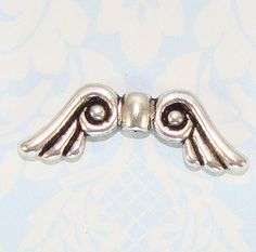 20 silver plated Guardian Angel Fairy 21mm Wings Beads Jewellery Making crafts