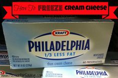 Find out How to Freeze Cream Cheese. Stock up when they are on sale and save!