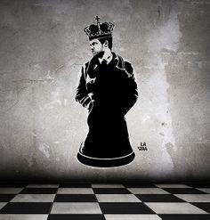 La staa - Magnus Carlsen king of chess street art Magnus Carlsen, Kings Crown, Chess, Creative Art, Street Art, Art Gallery, Darth Vader, Batman, Superhero